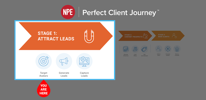 Stage 1 NPE Perfect Client Journey Target Avatars