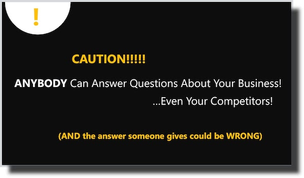 Caution Anyone Can Answer Questions About Your Google My Business