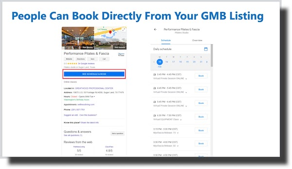 Google My Business Book Directly From Listing 1