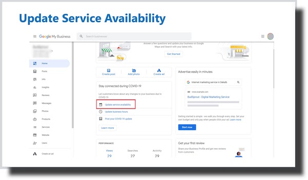Update Your Service Ability on GMB