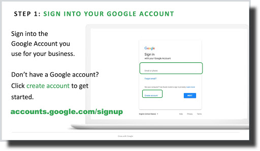 Step 1 Sign into Google Account